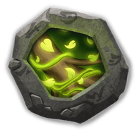 Vital Boon Crest I - Raises HP by 16%. When attacked, has a 15% chance to remove 1 nearby enemy