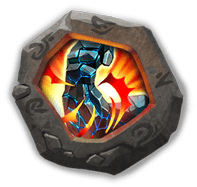 Stone Skin Insignia - Reduces damage taken by 25%.