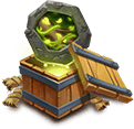 Vital Boon Crest Set Lv1 - Grants Vital Boon Crest Set. - Raises HP by 8%. When attacked, has a 15% chance to remove 1 nearby enemy