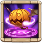 Dirty Tricks Deals 100% ATK DMG to five random targets and removes their buffs. Also summons two Lv 20 Pumpkies for 15s. Cooldown: 10s. Hero has Lv 8 War God. Pumpkie