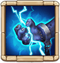 Electroshock Unleashes 2 random electric bolts on enemy unit(s), each dealing 40% ATK DMG every 0.5s for 3s. Each time they take damage, they are inflicted with Coma for 0.3s. (Cooldown: 4s. When attacked, this Hero increases its ATK by 45%, takes 65% less DMG, and becomes immune to Energy Reduction effects, all for 4s. Cooldown: 2s)